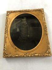 ANTIQUE TIN TYPE PICTURE WITH FRAME