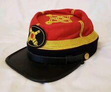 American Civil War Confederate Washington Artillery Unit Officers Hat Cap Kepi