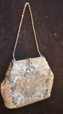 SPECTACULAR HAND MADE BEADED ANTIQUE SILK BAG PURSE WITH EXQUISITE CLASP PP187