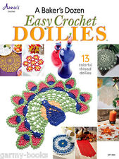 A Baker's Dozen Easy Crochet Doilies Pattern Instruction Book Annie's Attic NEW