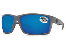 7afb750c80 Costa Del Mar Reefton Matte Gray   Blue Mirror 580 Glass 580G - NEW