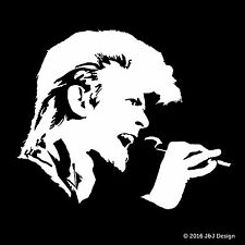 David Bowie Rock n Roll Hall of Fame Music Singer Car Window Decal White