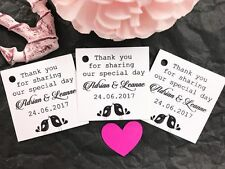 10 Kraft Gift Tags Wedding Favour Bomboniere Personalised Love Birds Thank you