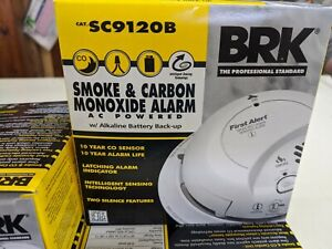 BRK SC9120B COMBO SMOKE CARBON MONOXIDE DETECTOR 03/21 DATE ALARM AC/DC