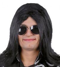 Parrucca nera liscia uomo donna Vendetta Michael Jackson