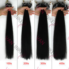 """14-26""""Remy Human Hair Extensions Micro Rings Beads Easy Loop Straight 100s"""