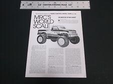 '93 MRC WORLD SCALE R/C BAJA & THUNDER KING DESERT THUNDER TEST REPRINT *G-COND*
