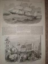 Iglesia Maori Otaki y ver Christchurch Canterbury Nueva Zelanda 1853 impresión REF T