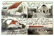 Giessmannsdorf Schlesien, Schloss Feind's Warenhandlung Kirche Stärkefabrik,1910