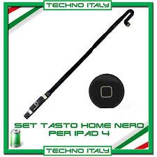 Kit Set Tasto Home button completo per iPad 4 NERO
