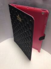 Full Cover Synthetic Leather Case For IPad 2/3/4 Black With Gold Accents