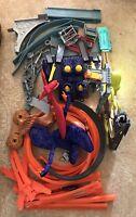 Hot Wheels Lot Of 40 Pieces Dragon Race Tracks Dinosaur Launcher Misc.