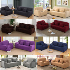 1/2/3/4 Seater Slipcover Sofa Protector Soft Stretchy Washable Cushion Cover New