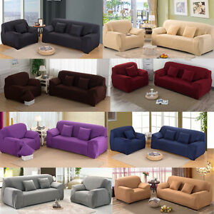 1-4 Seater Stretch Sofa Slip Covers Couch Cover Furniture Protector Universal !