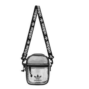 Adidas Originals Unisex Mens Womens Clear Black Festival Crossbody Bag