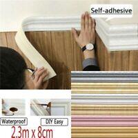 3D Self adhesive Waterproof Pattern Wallpaper Border Decor Removable Stickers De