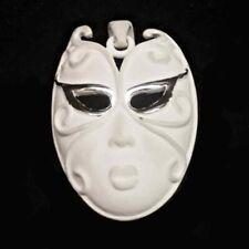 COLGANTE grande MÁSCARA VENECIANA de cerámica blanca 45x30 mm. Estuche incluido