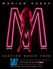 "MARIAH CAREY ""CAUTION WORLD TOUR"" 2019 BOSTON CONCERT POSTER -Hip Hop Music Diva"