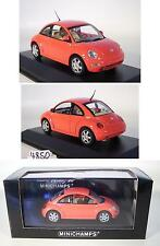 Minichamps 1/43 VW Volkswagen Beetle rojo OVP #4850
