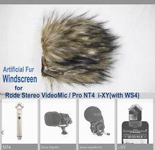 Fur Windscreen Rode Deadkitten Wind Shield for Rode Stereo VideoMic Pro NT4 i-XY