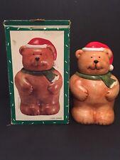 Coco Dowley Santa Bear Christmas Cookie Jar