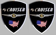 2 adhésifs sticker noir chrome CHRYSLER PT CRUISER  (idéal ailes avant)