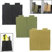 Tactical Molle Elastic Tool Case Double Pistol Magazine Pouch Open-Top Waist Bag