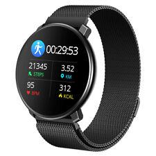 Bluetooth Smartwatch Fitness Armband Metall Fitness Tracker Sportuhr Wasserdicht