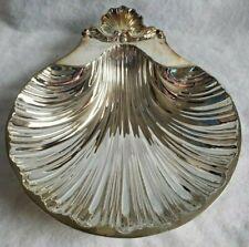 Vintage International Silver Co Silverplated Clam Shell Dish tray original box