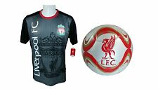 Liverpool F.C. Soccer Official Training Jersey & Size 5 Ball -05 X-Large