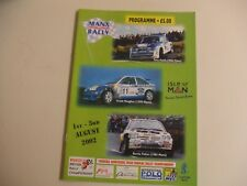 2002 Manx International Rally Official Programme & Entry List