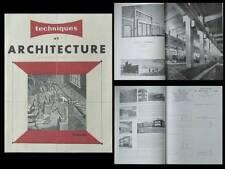 TECHNIQUES ET ARCHITECTURE 1948 TRAVAIL USINE DUVAL ST DIE, HOUILLERES LORRAINE