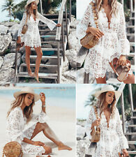 Women's Lace Bathing Suit Cover Up Boho Beach Maxi Bikini Sundress Dress Summer