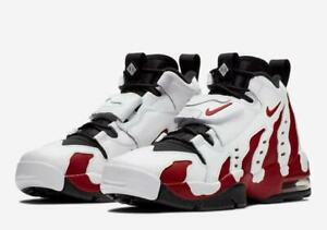 "NIKE AIR DT MAX '96 ""DEION SANDERS"" WHITE / VARSITY RED-BLACK MEN'S 316408 161"