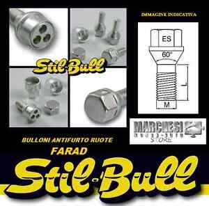 KIT BULLONI ANTIFURTO STIL BULL FARAD VW GOLF V-VI-VII CON DISTANZIALI DA 16 MM.