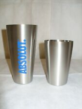 "Absolut Vodka - Promo 7"" Stainless Steel Tin/Tin Barware Cocktail Shaker - NIB"