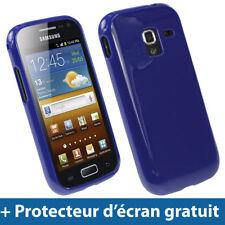 Étuis, housses et coques avec clip bleu en silicone, caoutchouc, gel pour téléphone mobile et assistant personnel (PDA)