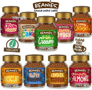 BEANIES FLAVOURED COFFEE LOW CALORIE JARS 50G PICK ANY 2 JARS