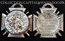 Journée du Poilu, 1915. La Marne 1914/Yser 1915/Verdun, La Somme 1916. Argenté