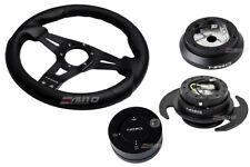 NRG 320 Sniper Steering Wheel Carbon Spoke/100 Hub/3.0 Black Release/Lock Matt
