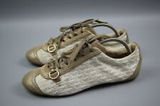 Christian Dior Monogram My Dior Sport Shoe Gold Sneakers shoes size 38