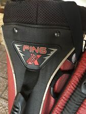 Ping Hoofer Xtreme Red Black Stand Carry Golf Bag Backpack WO/Raincover