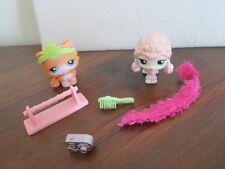 Littlest Pet Shop Lot Pink Poodle #152 & Kitty Cat Orange Persian #153