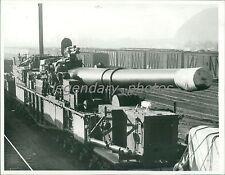 1940 Railway Rifle Enroute to Testing in Naples Original News Service Photo