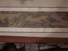 Brocade DRA Wings Chinese Silk Scroll Riverside Scene at Qingming Festival with