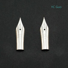 2X Medium Nibs For Wing Sung 698 Fountain Pen Silver Color
