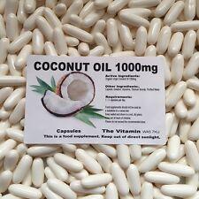 Organique Vierge Coconut Oil 1000mg 180 Capsules (L)