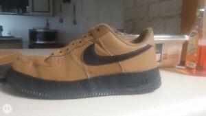 Gently-Used, GENUINE NIKE, AIR FORCE 1 '07, Wheat/ Black, 9 Men's Sneaker/Shoes