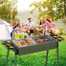 "30""BBQ Barbecue Charcoal Grill Stainless Steel Foldable Backyard Cooker Portable"
