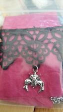 Black soft lace choker with silver bat pendant